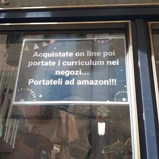 La grande balla di Amazon che ci fa chiudere il negozio